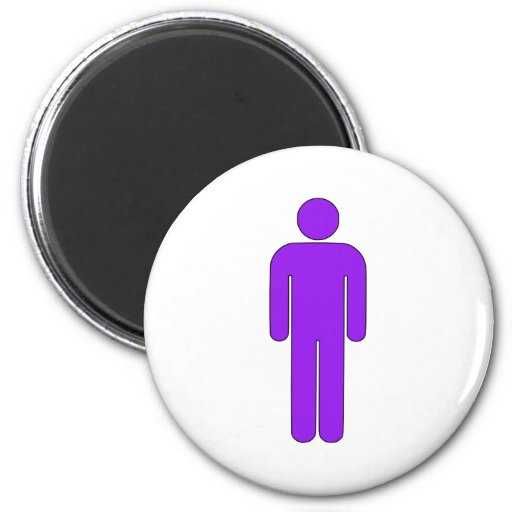 Person Man Sign Universal Silhouette Classic Comic Fridge Magnets