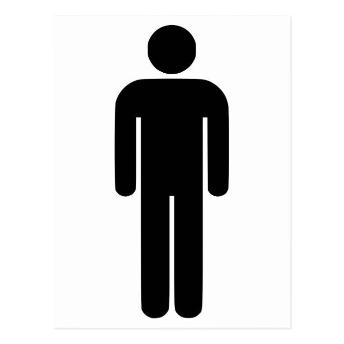 Person Man Sign Universal Silhouette Classic Comic Postcard