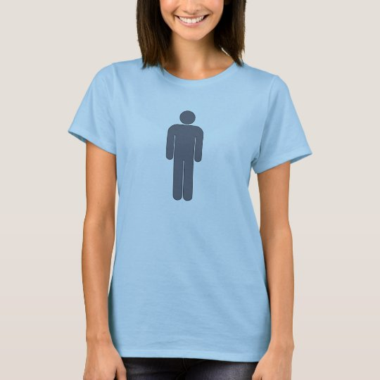 Person Man Sign Universal Silhouette Classic Comic T-Shirt