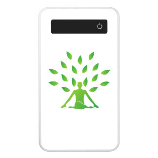 Person meditating under a tree power bank
