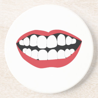 Person Mouth Beverage Coasters