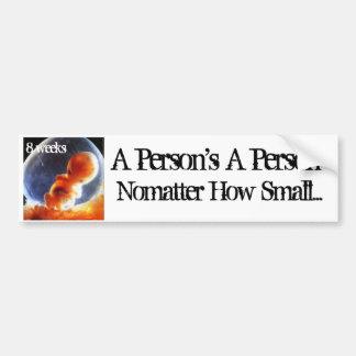person nomatter how small bumper sticker