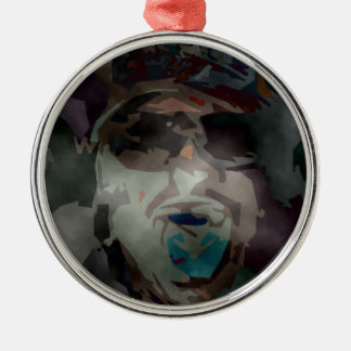 person of interest #6 metal ornament