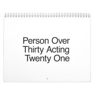 Person Over Thirty Acting Twenty One.ai Calendar