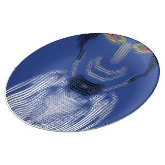 Person pattern porcelain plate