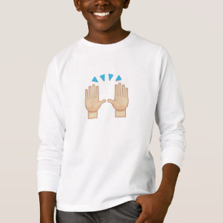 Person Raising Both Hands In Celebration Emoji T-Shirt