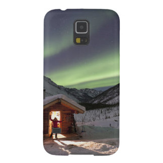 Person stands in doorway of Caribou Bluff cabin 2 Cases For Galaxy S5