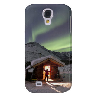 Person stands in doorway of Caribou Bluff cabin 2 Galaxy S4 Case