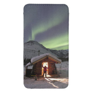 Person stands in doorway of Caribou Bluff cabin 2 Galaxy S4 Pouch