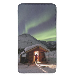 Person stands in doorway of Caribou Bluff cabin 2 Galaxy S5 Pouch