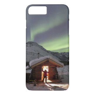 Person stands in doorway of Caribou Bluff cabin 2 iPhone 8 Plus/7 Plus Case