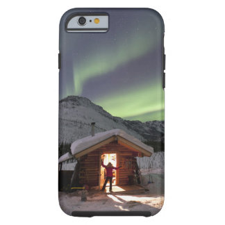 Person stands in doorway of Caribou Bluff cabin 2 Tough iPhone 6 Case
