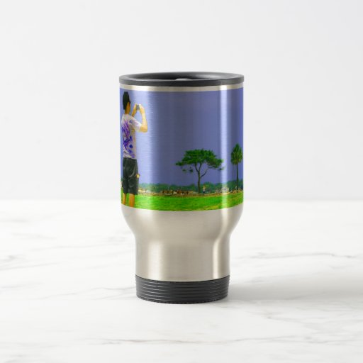 Person taking pic st augustine 15 oz stainless steel travel mug