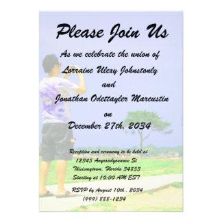 Person taking pic st augustine personalized invite