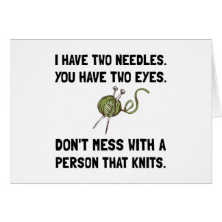 Person That Knits Card
