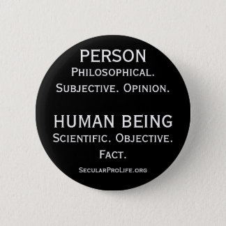 Person vs Human Being Button