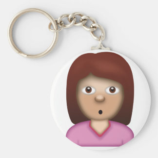 Person with Pouting Face Emoji Keychain
