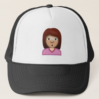 Person with Pouting Face Emoji Trucker Hat
