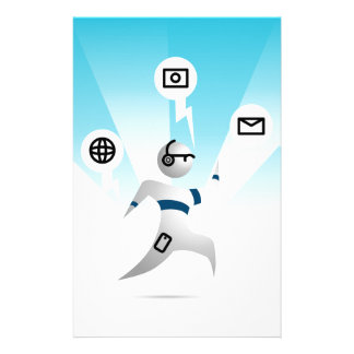 Person with Wearable Technology Stationery
