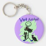 Persona auxiliar del palillo del veterinario con l llaveros