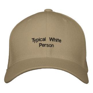 Persona blanca típica gorra de beisbol bordada