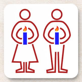 Persona candela humans candles posavasos de bebidas