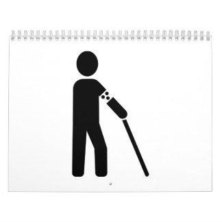 Persona ciega calendario