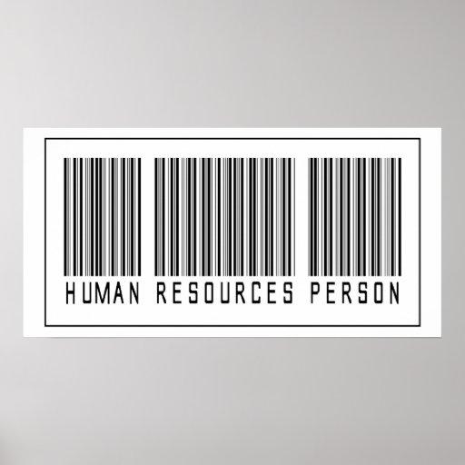 Persona con muchos recursos humana del código de b póster
