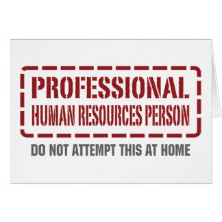 Persona con muchos recursos humana profesional tarjeton
