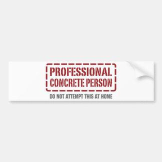 Persona concreta profesional pegatina de parachoque