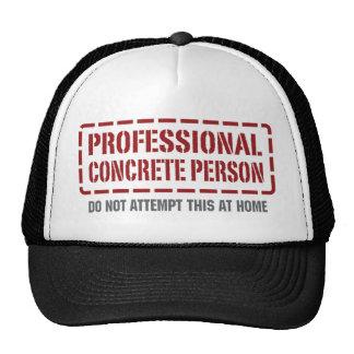 Persona concreta profesional gorras