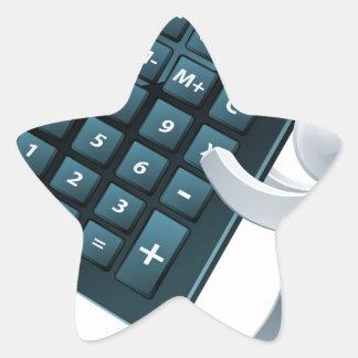 Persona de la calculadora pegatinas forma de estrellaes