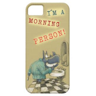 Persona de la mañana del rinoceronte funda para iPhone 5 barely there