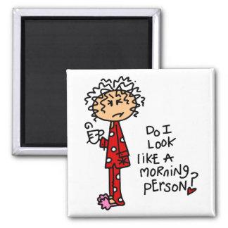 ¿Persona de la mañana? Imán Cuadrado