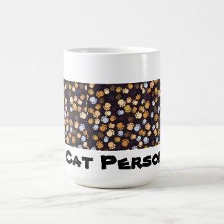 Persona del gato taza de café