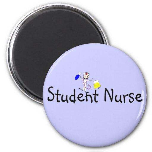 Persona del palillo de la enfermera de estudiante imán redondo 5 cm