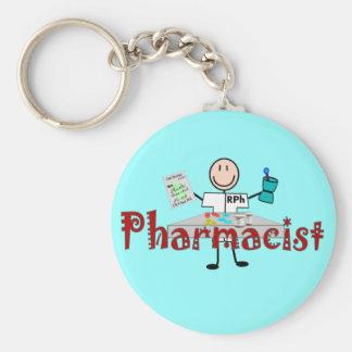Persona del palillo del farmacéutico--Regalos Llavero Personalizado
