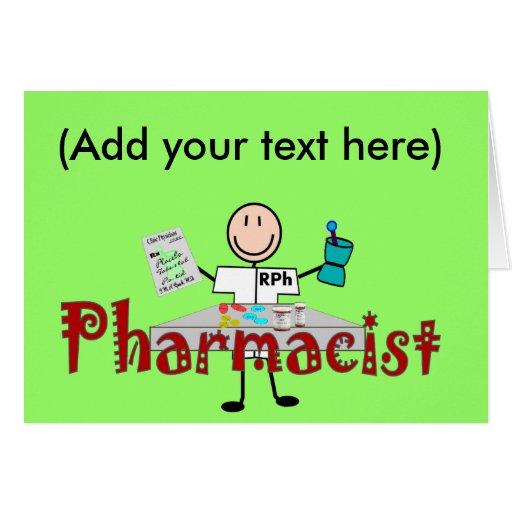 Persona del palillo del farmacéutico--Regalos Tarjeta De Felicitación