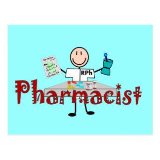 Persona del palillo del farmacéutico--Regalos Tarjetas Postales