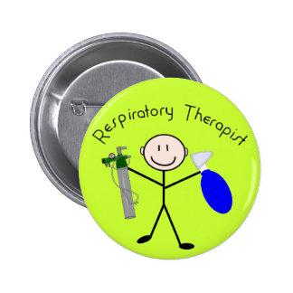 Persona del palillo del terapeuta respiratorio pins