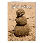 Persona divertida de la arena - feliz cumpleaños p felicitaciones