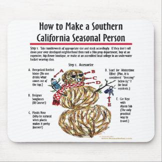 Persona estacional meridional Mousepad de Californ