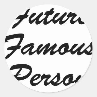 Persona famosa del futuro pegatina redonda