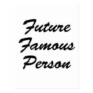 Persona famosa del futuro postales