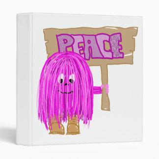 Persona fucsia de la paz de la paz