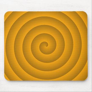 Persona hipnotizada anaranjada tapetes de ratón