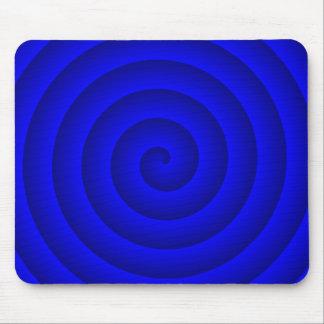 Persona hipnotizada azul alfombrilla de ratón