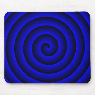 Persona hipnotizada azul y negra alfombrilla de raton