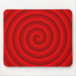 Persona hipnotizada roja tapete de raton