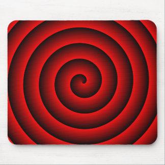 Persona hipnotizada roja y negra alfombrillas de ratones
